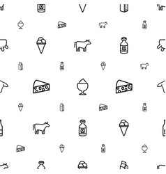 Milk icons pattern seamless white background vector