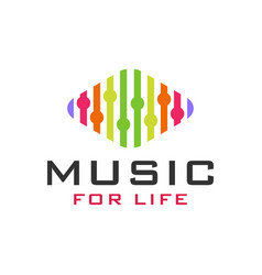 Modern music entertainment logo vector