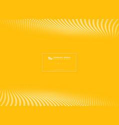 modern yellow tech circle dots pattern halftone vector image