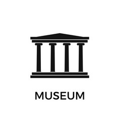 museum building simple flat icon vector image