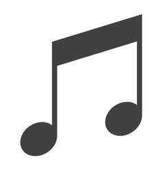 music glyph icon web and mobile note sign vector image