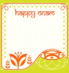 Onam holiday card vector