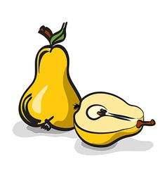 Pear fruits sketch drawing set vector image