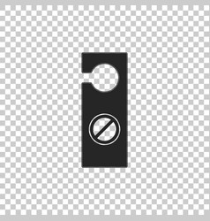 Please do not disturb icon isolated vector