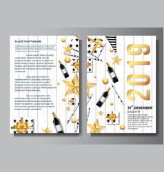professional happy new year brochure background vector image