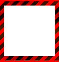 Red and black stripes with grunge texture warning vector