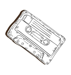 Retro cassette tape vector