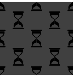 Sand clock Glass timer web icon flat design vector image