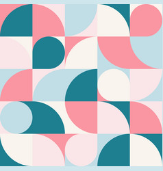 seamless abstract geometric round print vector image