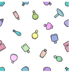 seamless pattern of perfume bottles on vector image