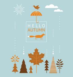 season greeting card vector image