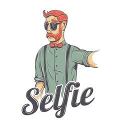 selfie hipster vector image
