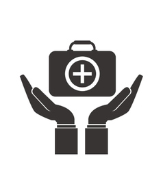 Shelter hand health icon vector