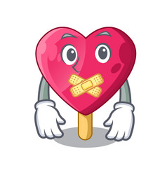 silent the shaped heart ice cream mascot vector image