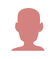 Silhouette human head man healthy vector