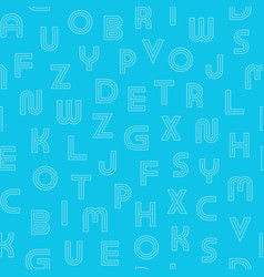 Simple seamless pattern with contour latin vector