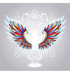 stained glass wings vector image