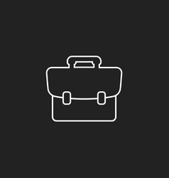 suitcase icon luggage in line style vector image