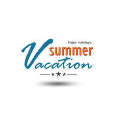 summer emblem vector image