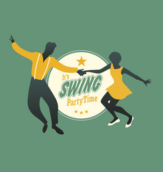 swing party time-04 vector image