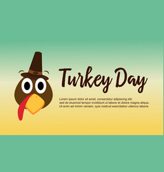 Thanksgiving theme turkey day collection vector
