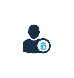 trash user logo icon design vector image