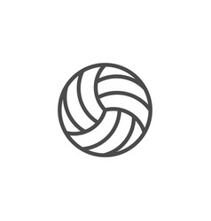 volleyball ball line outline icon vector image