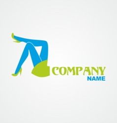 Woman legs and title vector