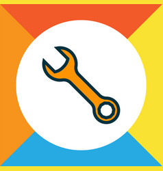 Wrench icon colored line symbol premium quality vector