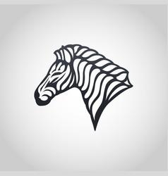 zebra logo icon vector image