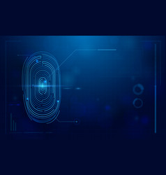 abstract futuristic digital fingerprint scanner vector image