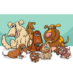 dogs group cartoon vector image vector image