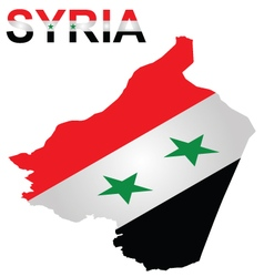 Isometric Syrian Flag vector image vector image