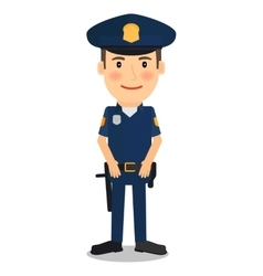 Policeman character vector image