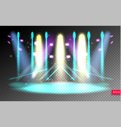 scene illumination show on transparency background vector image