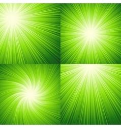 Sunbeams green background vector image