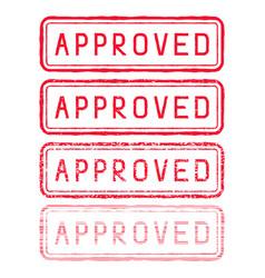 approved stamp red rectangular impress vector image