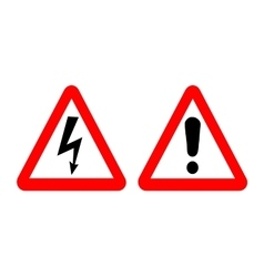 high voltage and warning signs vector image