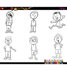 kid boys set coloring book vector image vector image
