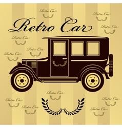 Retro car or background vector image