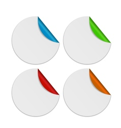 Set of White Paper Stickers Isolated on Background vector image vector image