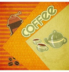 Template orange menu of coffee vector image vector image