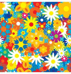 abstract flowers background vector image vector image