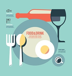 foods and drink template modern minimal flat vector image