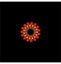 Isolated abstract red and yellow flower vector image vector image