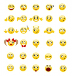 set smileys vector image