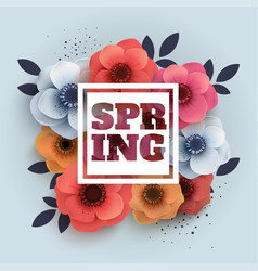 spring banner with the text and paper vector image vector image