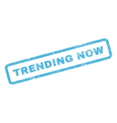 Trending Now Rubber Stamp vector image vector image