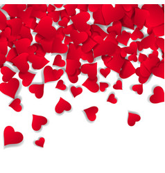 papercut hearts valentine s day card background vector image vector image