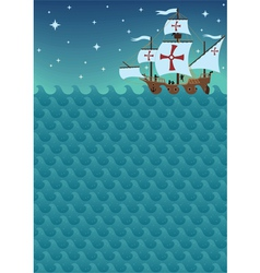 sailboat background vector image vector image